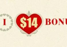 $14 No Deposit Bonus Valentine FORTFS Broker