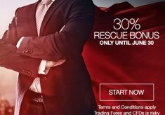 30% Rescue Deposit Bonus Limited Promotion