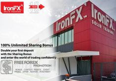 IronFX 100% Unlimited Sharing Bonus