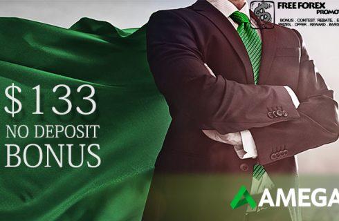 $133 Amega No Deposit Bonus