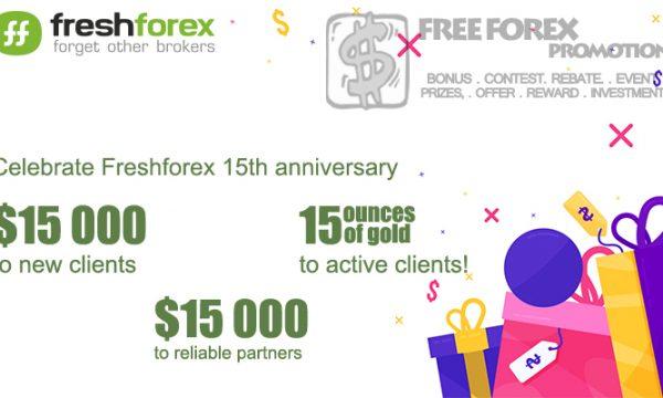 FreshForex 15th Anniversary Prize Draw