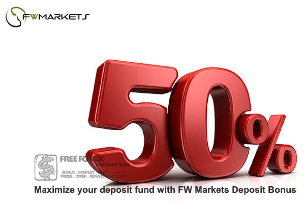 FW Markets 50% Deposit Bonus