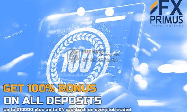 Join FXPRIMUS 100% Bonus Deposit