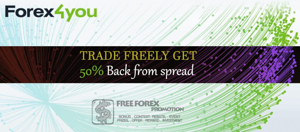 Forex4You 50% Cashback Program