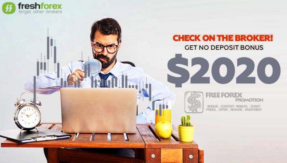 FreshForex No deposit bonus $ 2020
