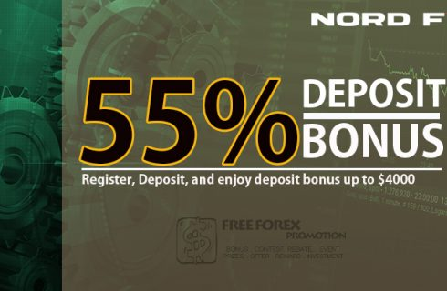 NordFX 55% Deposit Bonus