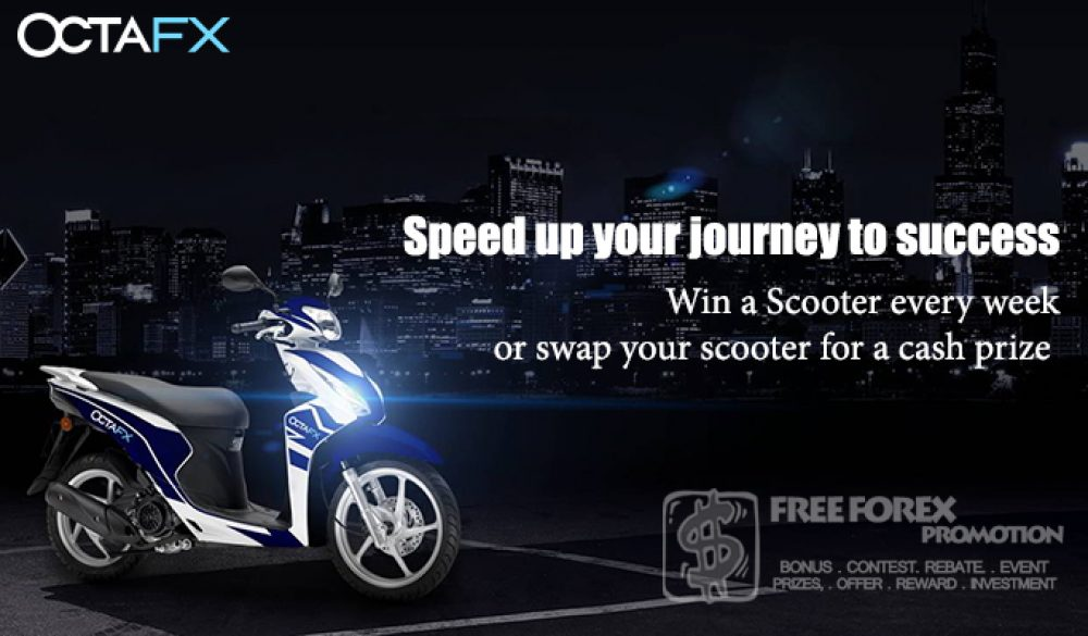 OctaFX Weekly Scooter Giveaway