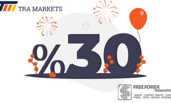 Tra Markets 30% Welcome Bonus