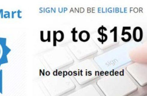 $150 No Deposit Bonus from FOREXMART