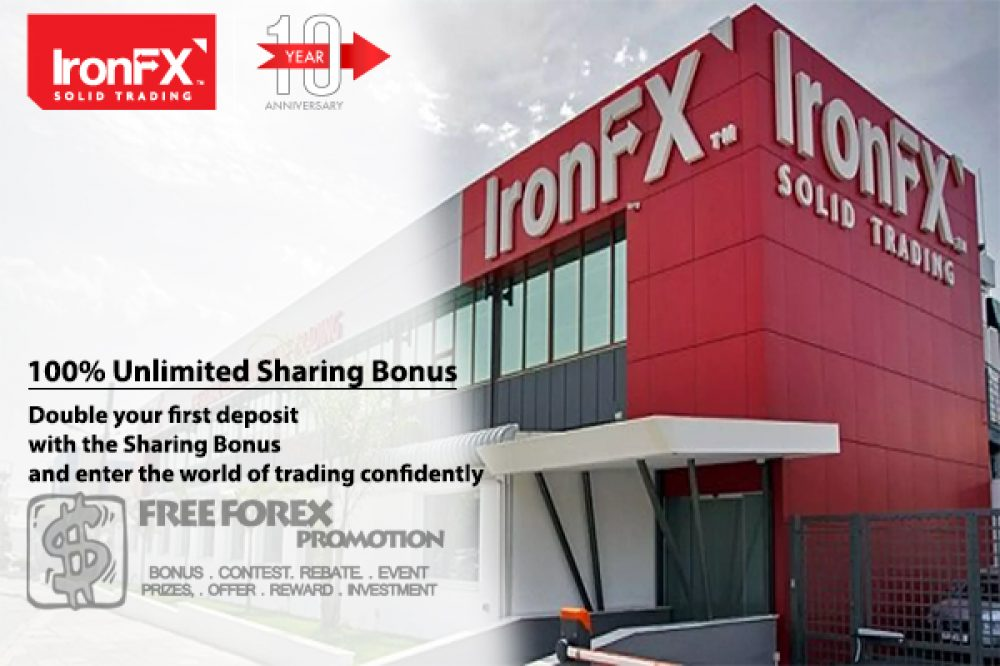 IronFX 100% Unlimited Sharing Bonus