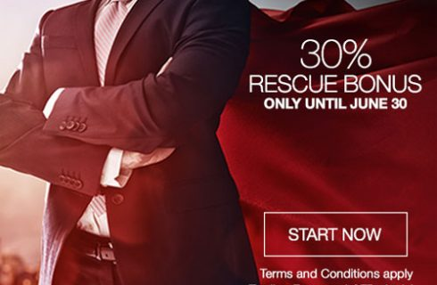 30% Rescue Deposit Bonus Limited Promotion